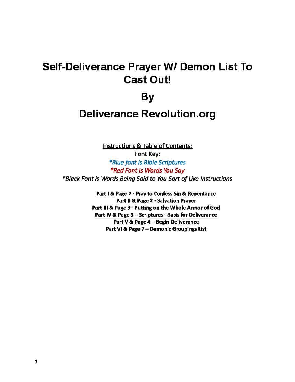 Prayer And Deliverance Bible Pdf